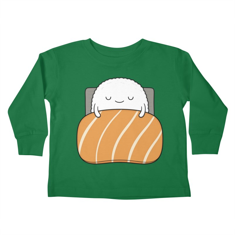 Sleepy Sushi Kids Toddler Longsleeve T-Shirt by Kim Vervuurt