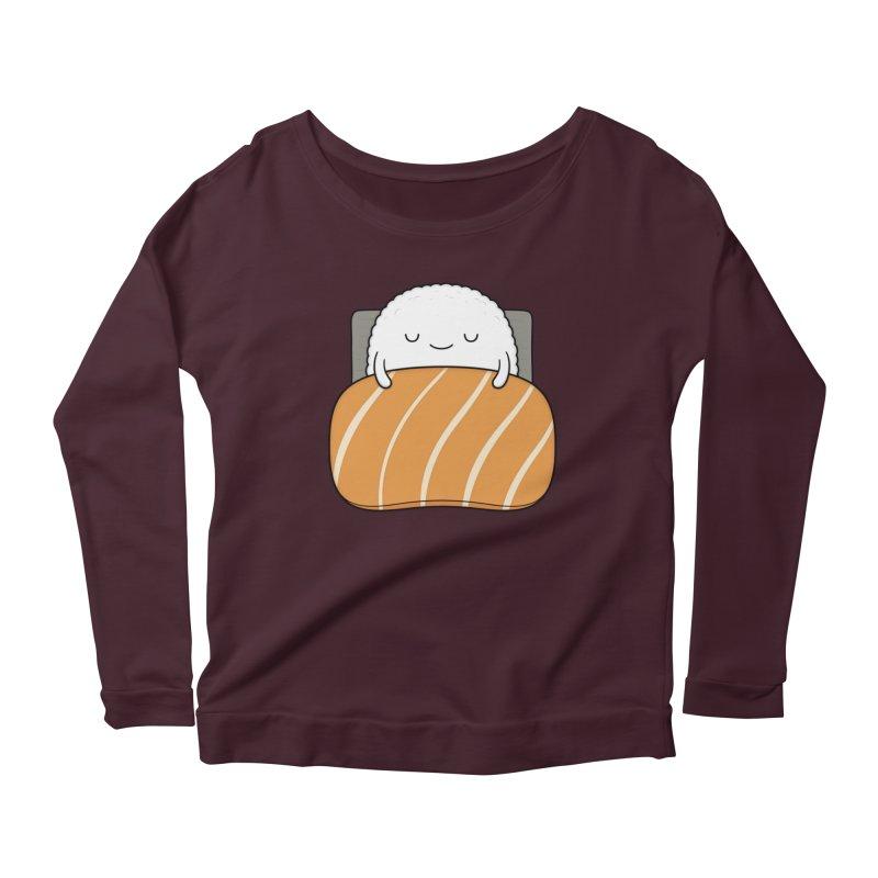 Sleepy Sushi Women's Longsleeve T-Shirt by Kim Vervuurt