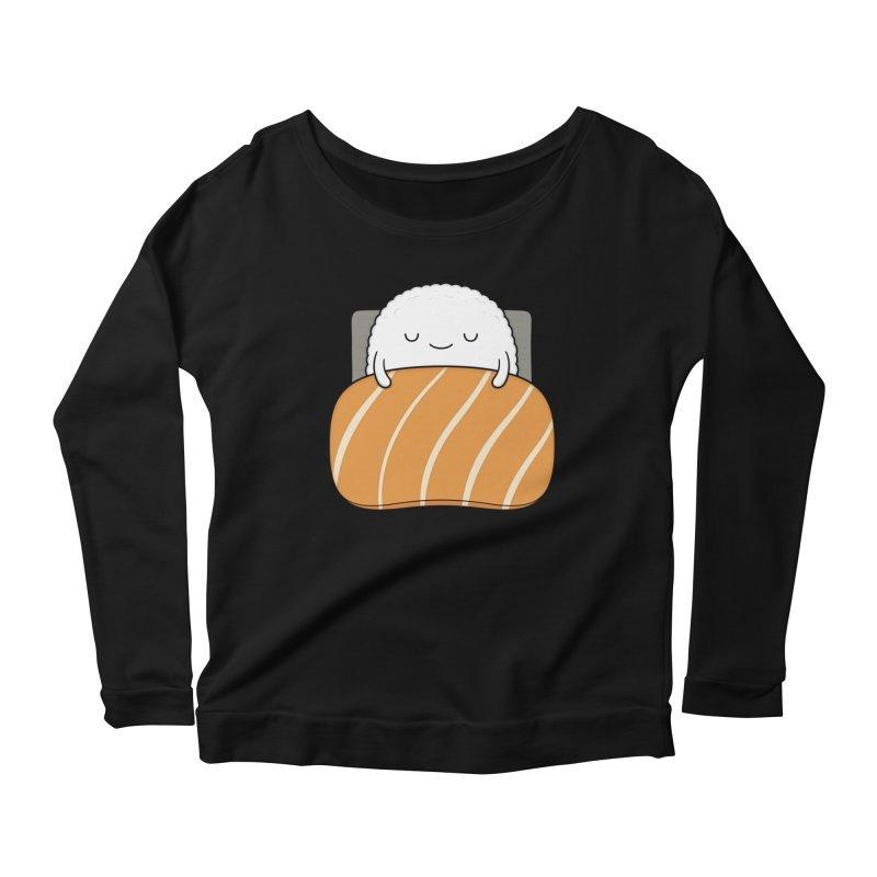 Sleepy Sushi Women's Scoop Neck Longsleeve T-Shirt by Kim Vervuurt