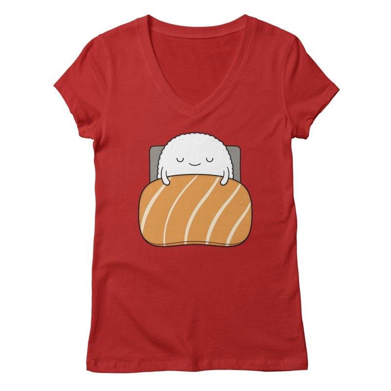 Sleepy Sushi Women's V-Neck by Kim Vervuurt