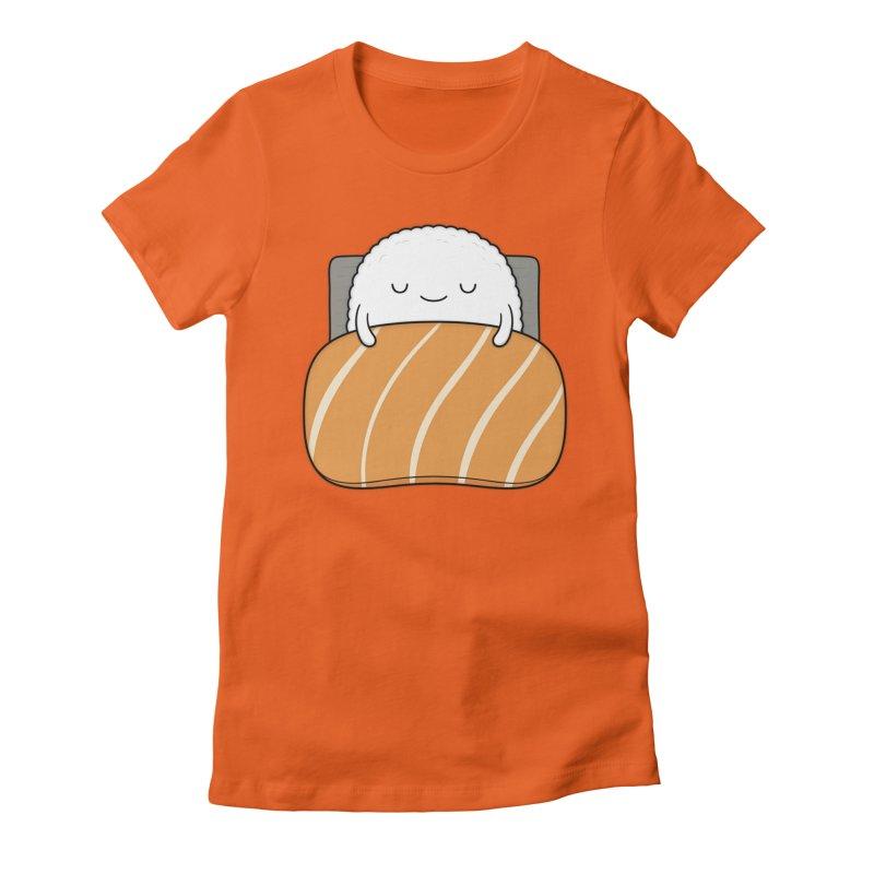 Sleepy Sushi Women's Fitted T-Shirt by Kim Vervuurt