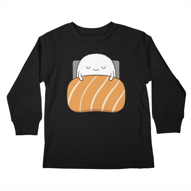 Sleepy Sushi Kids Longsleeve T-Shirt by Kim Vervuurt