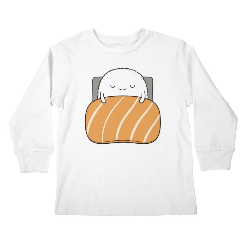Sleepy Sushi Kids Longsleeve T-Shirt by Kim Vervuurt