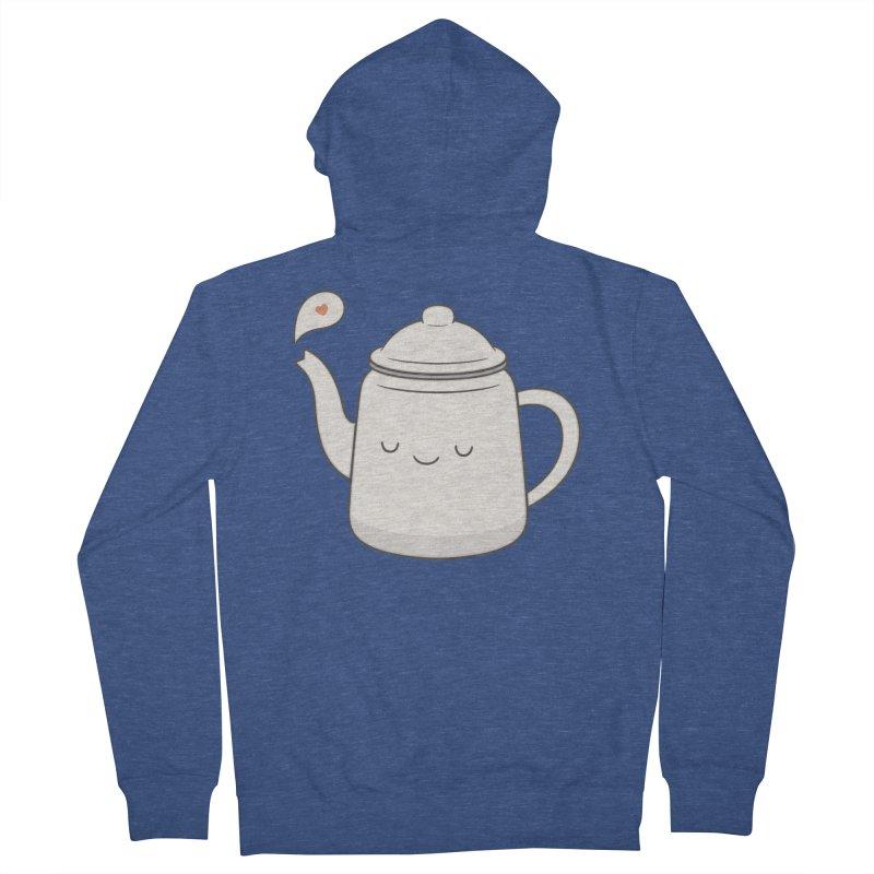Teapot Men's Zip-Up Hoody by Kim Vervuurt