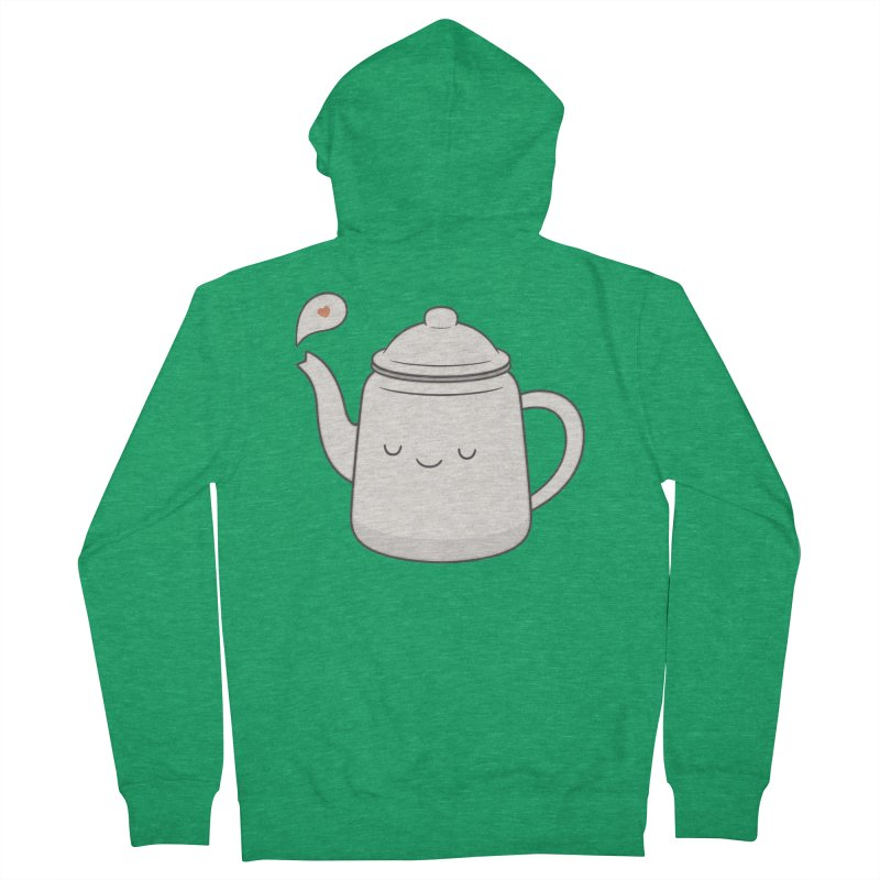 Teapot Women's French Terry Zip-Up Hoody by Kim Vervuurt