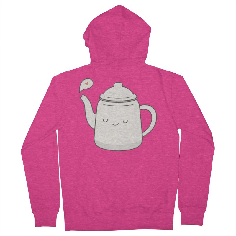 Teapot Women's French Terry Zip-Up Hoody by Kim Vervuurt