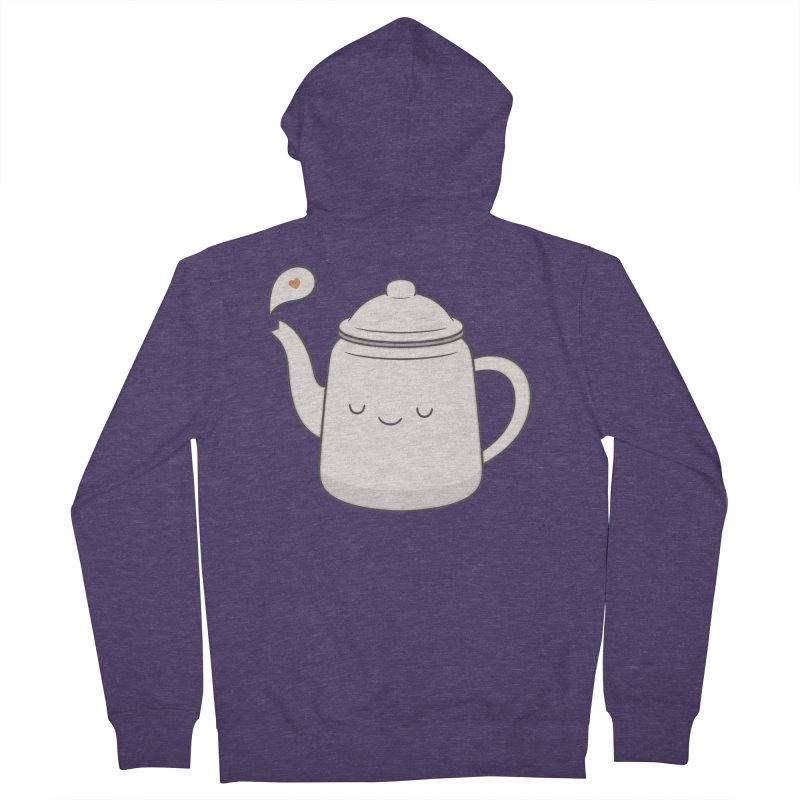 Teapot Men's French Terry Zip-Up Hoody by Kim Vervuurt
