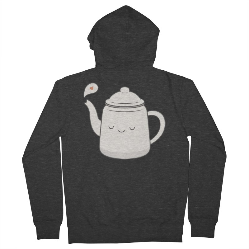 Teapot Men's Zip-Up Hoody by Kim Vervuurt