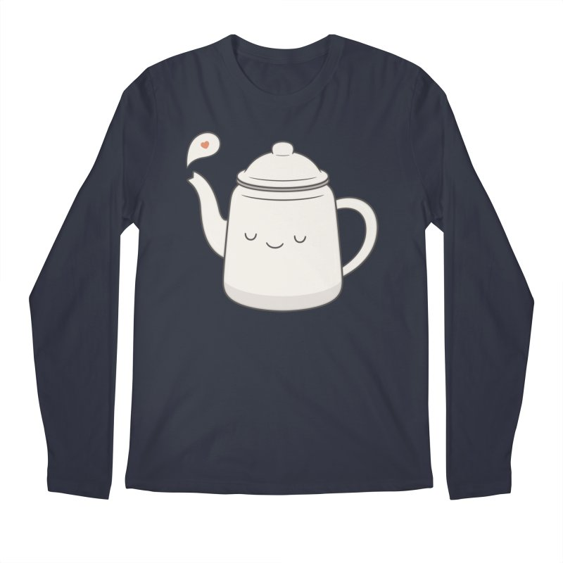Teapot Men's Regular Longsleeve T-Shirt by Kim Vervuurt