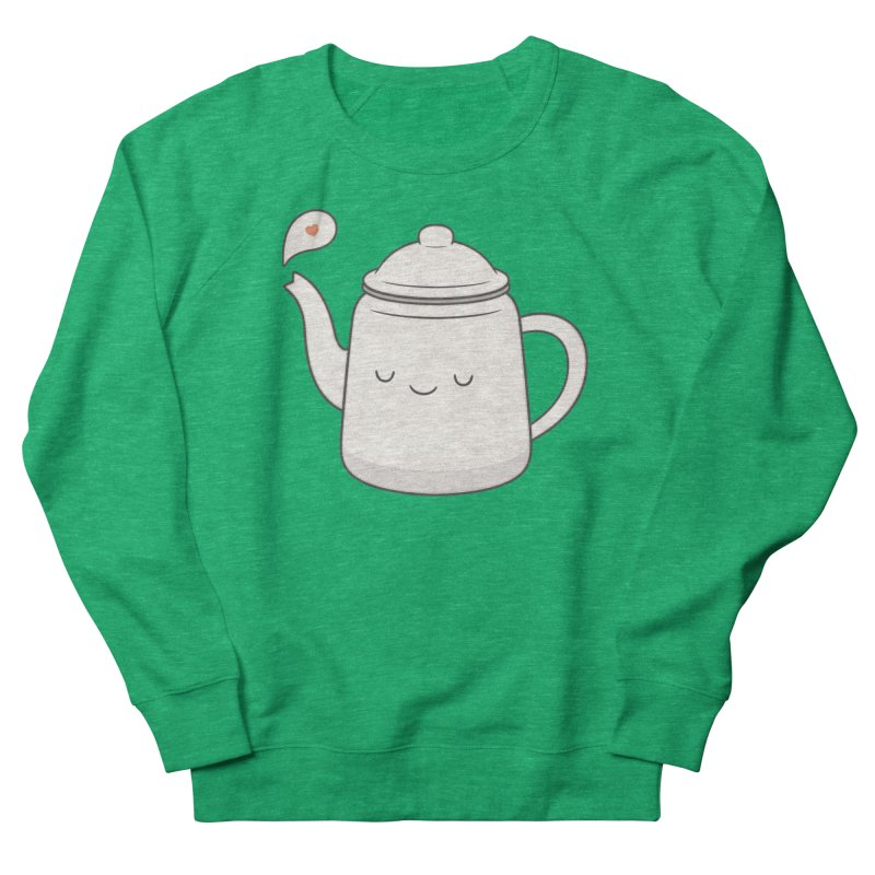 Teapot Women's French Terry Sweatshirt by Kim Vervuurt