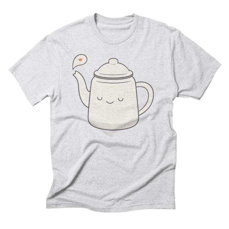 Teapot Men's Triblend T-shirt by Kim Vervuurt