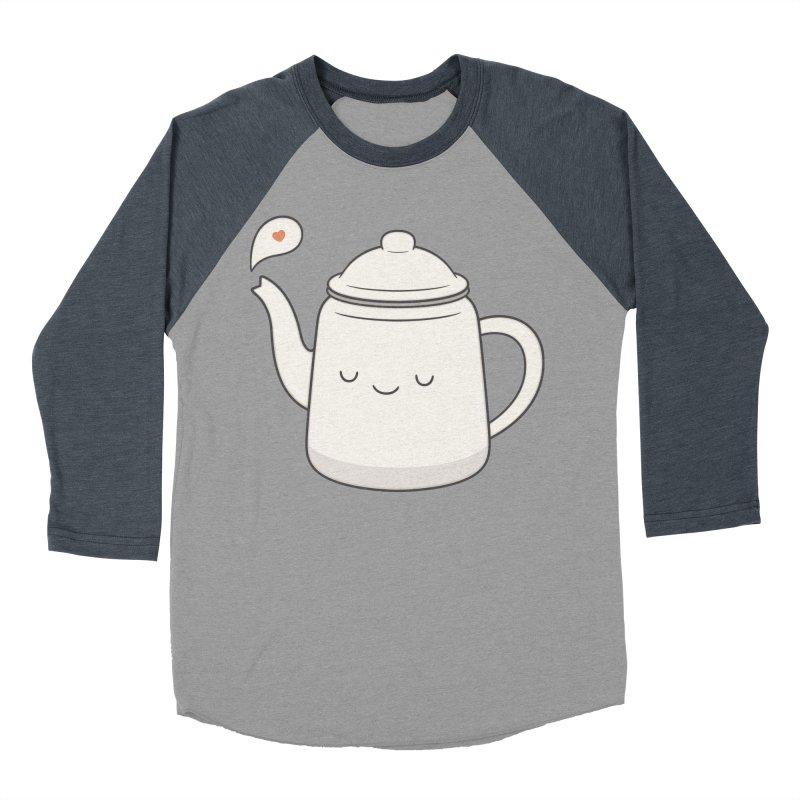 Teapot Women's Baseball Triblend T-Shirt by Kim Vervuurt