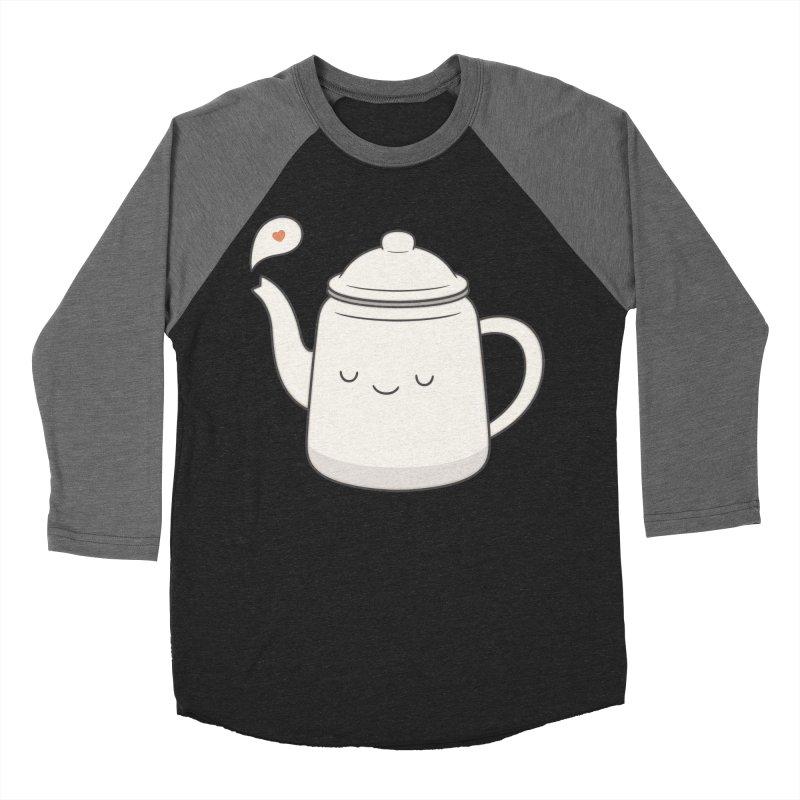 Teapot Men's Baseball Triblend Longsleeve T-Shirt by Kim Vervuurt