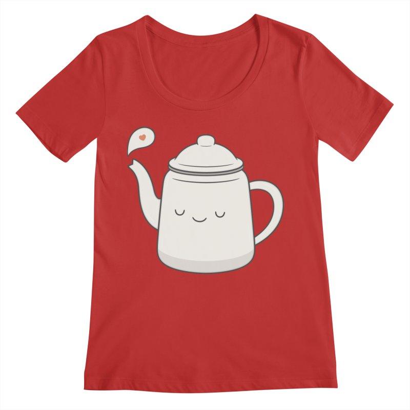 Teapot Women's Regular Scoop Neck by Kim Vervuurt