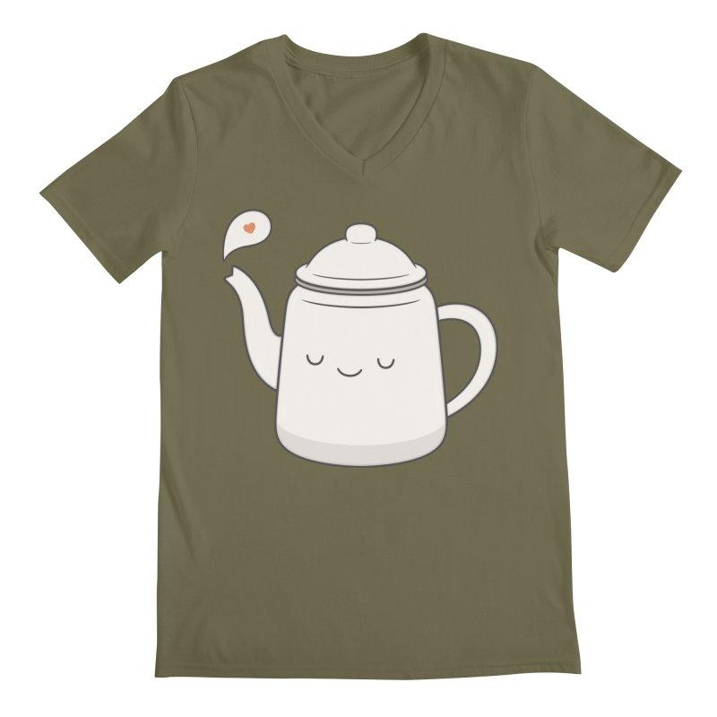 Teapot Men's Regular V-Neck by Kim Vervuurt