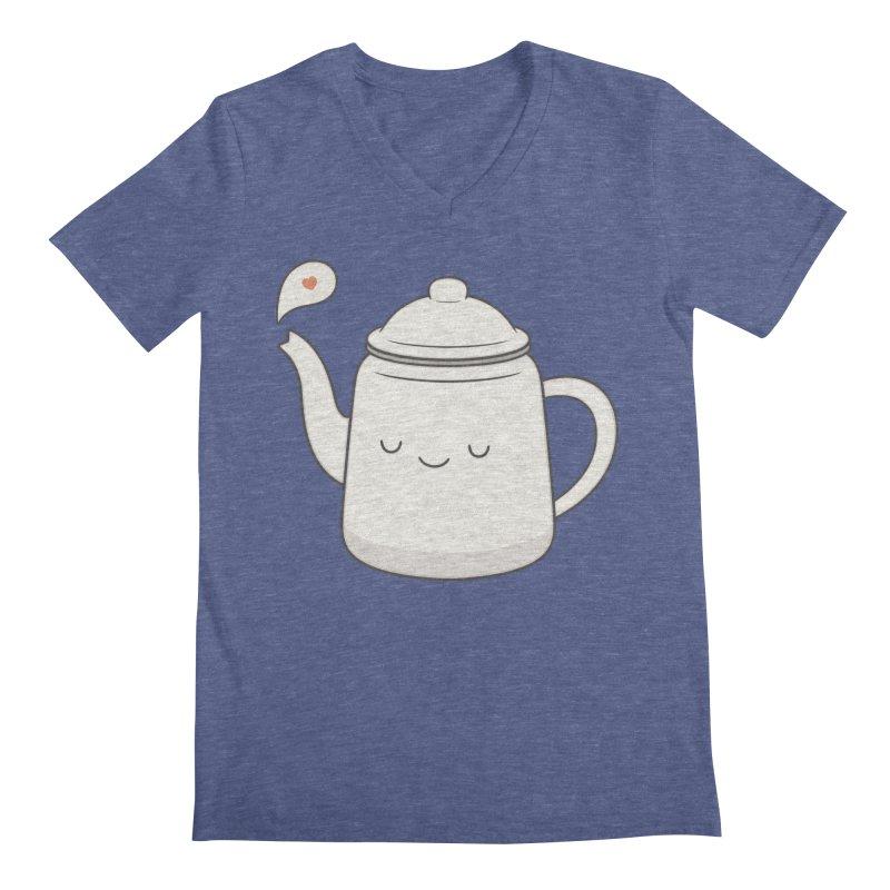 Teapot Men's V-Neck by Kim Vervuurt