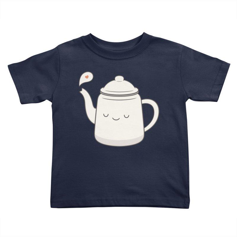 Teapot Kids Toddler T-Shirt by Kim Vervuurt