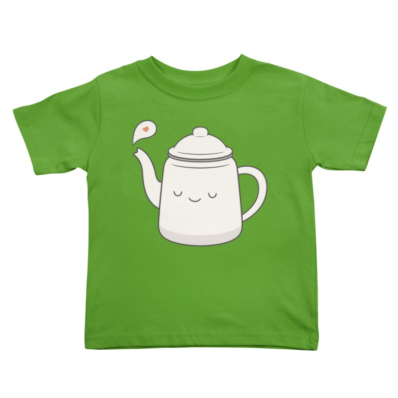 Teapot Kids Toddler T-Shirt by Kim Vervuurt