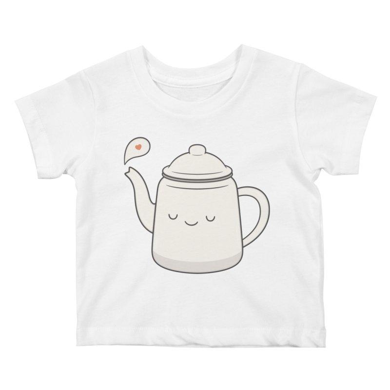 Teapot Kids Baby T-Shirt by Kim Vervuurt