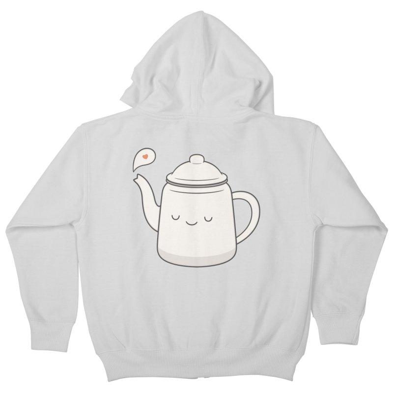 Teapot Kids Zip-Up Hoody by Kim Vervuurt