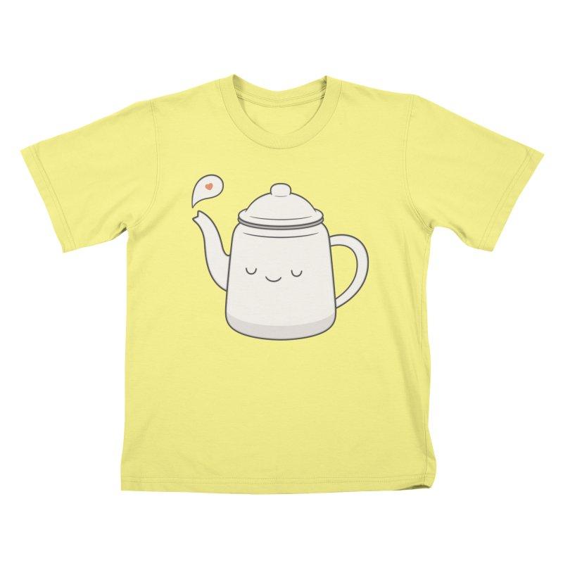 Teapot Kids T-shirt by Kim Vervuurt