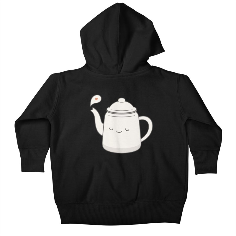 Teapot Kids Baby Zip-Up Hoody by Kim Vervuurt