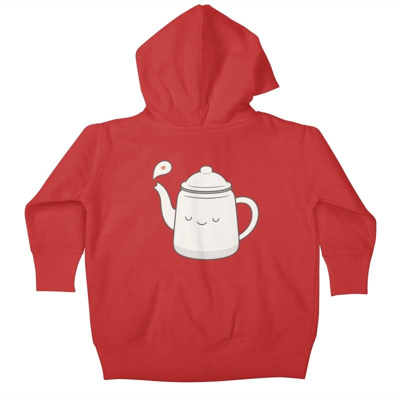 Teapot Kids Baby Zip-Up Hoody by Kim Vervuurt