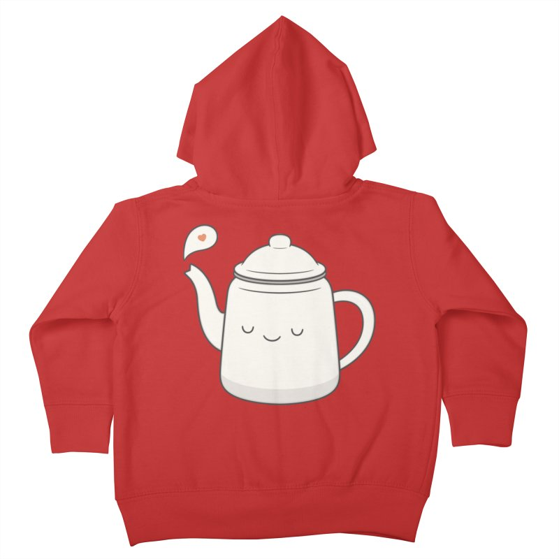 Teapot Kids Toddler Zip-Up Hoody by Kim Vervuurt