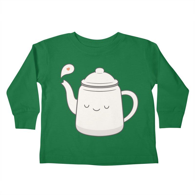 Teapot Kids Toddler Longsleeve T-Shirt by Kim Vervuurt