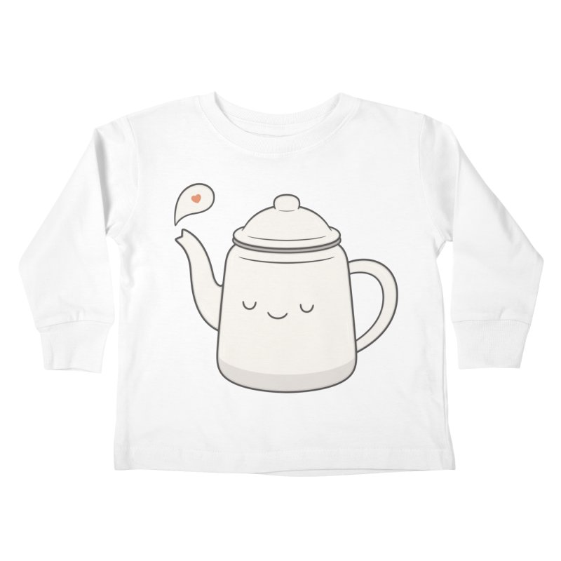 Teapot Kids Toddler Longsleeve T-Shirt by Kim Vervuurt