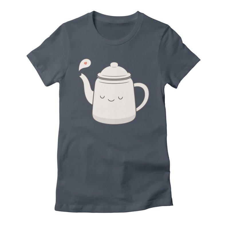 Teapot Women's T-Shirt by Kim Vervuurt