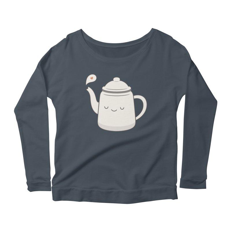 Teapot Women's Scoop Neck Longsleeve T-Shirt by Kim Vervuurt