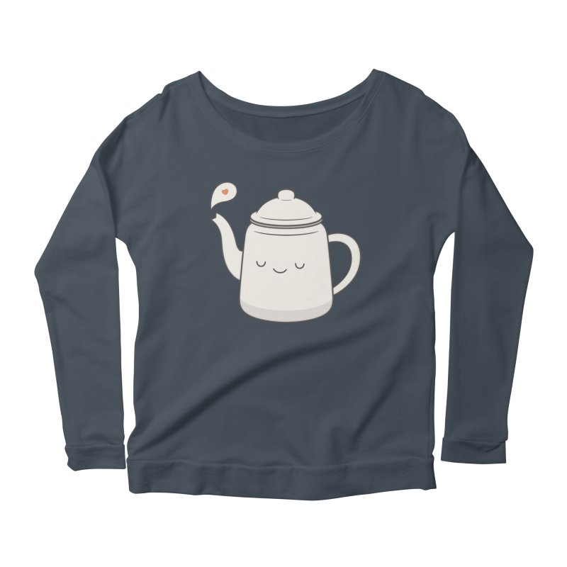 Teapot Women's Longsleeve Scoopneck  by Kim Vervuurt