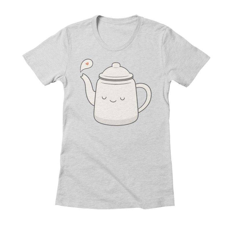 Teapot Women's Fitted T-Shirt by Kim Vervuurt
