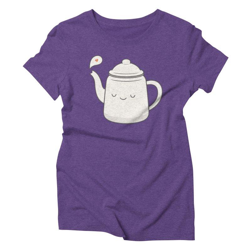 Teapot Women's Triblend T-Shirt by Kim Vervuurt