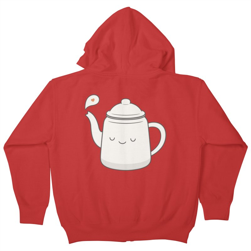 Teapot Kids Zip-Up Hoody by Kim Vervuurt