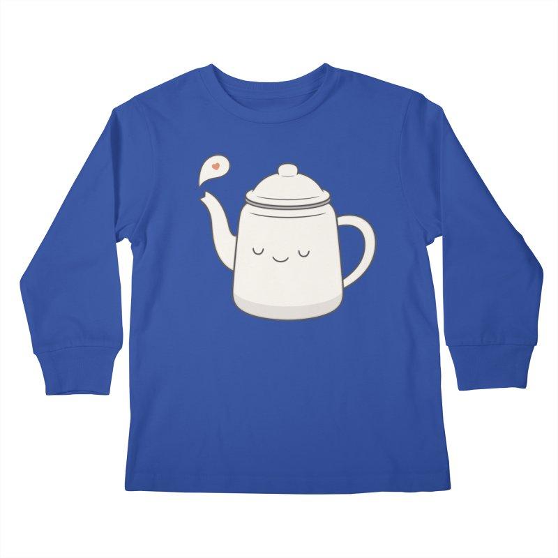 Teapot Kids Longsleeve T-Shirt by Kim Vervuurt