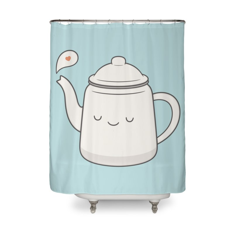 Teapot Home Shower Curtain by Kim Vervuurt