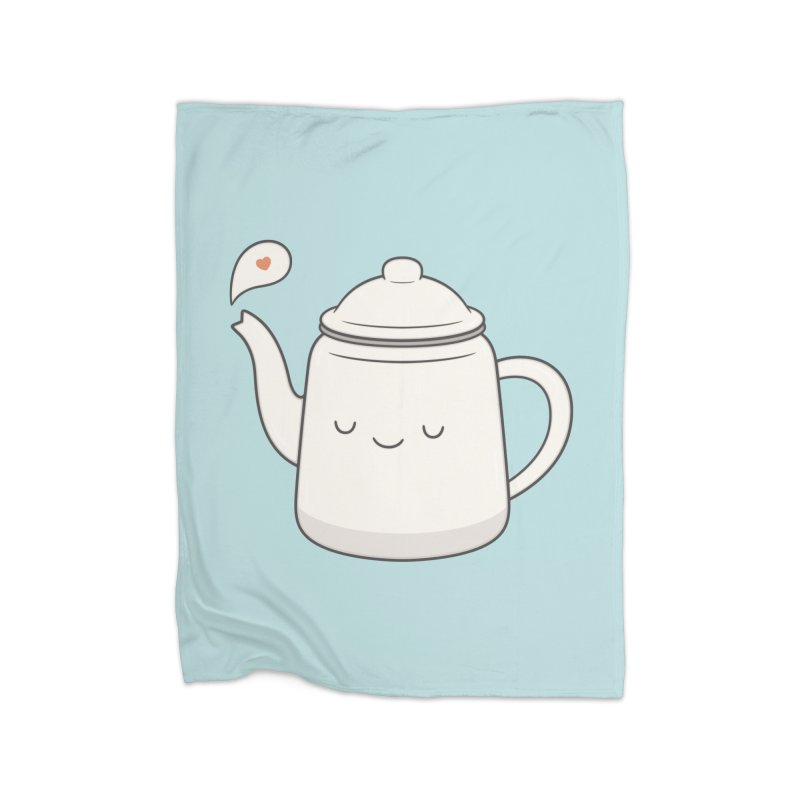 Teapot Home Fleece Blanket Blanket by Kim Vervuurt
