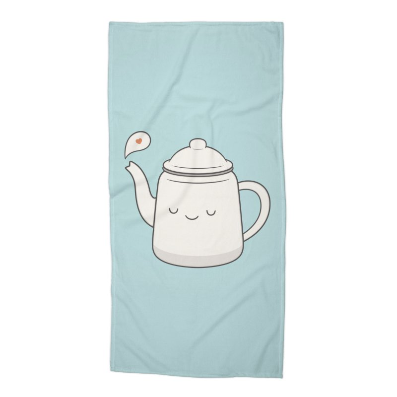 Teapot Accessories Beach Towel by Kim Vervuurt