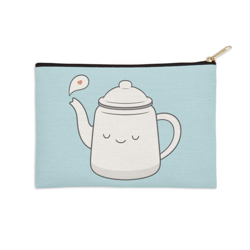 Teapot Accessories Zip Pouch by Kim Vervuurt