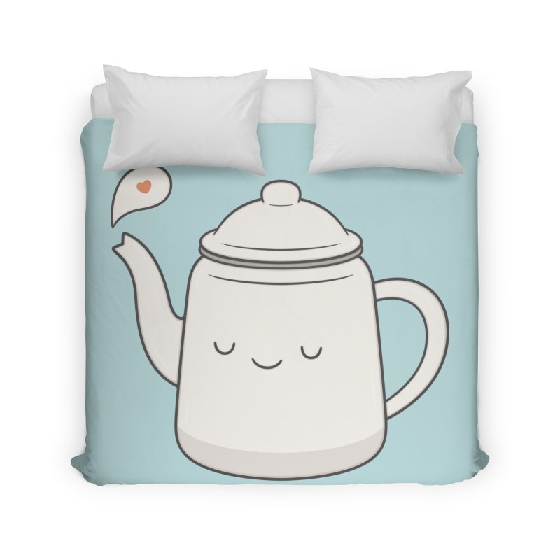 Teapot Home Duvet by Kim Vervuurt
