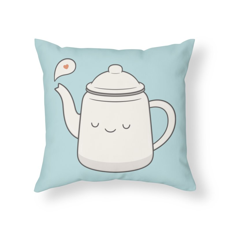 Teapot Home Throw Pillow by Kim Vervuurt