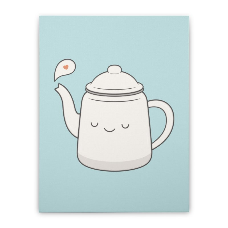 Teapot Home Stretched Canvas by Kim Vervuurt