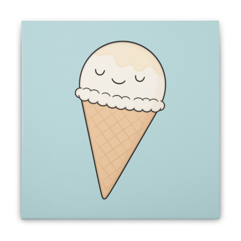 Ice Cream Home Stretched Canvas by Kim Vervuurt