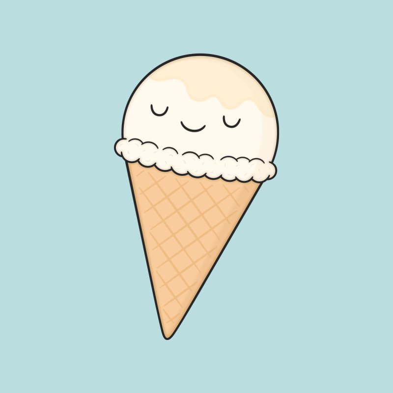 Ice Cream Home Fine Art Print by Kim Vervuurt