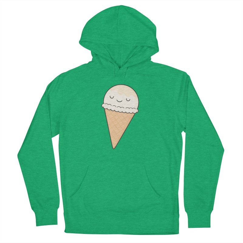Ice Cream Men's French Terry Pullover Hoody by Kim Vervuurt