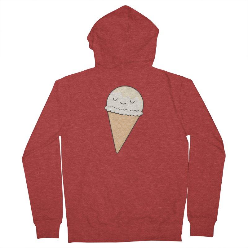 Ice Cream Men's French Terry Zip-Up Hoody by Kim Vervuurt
