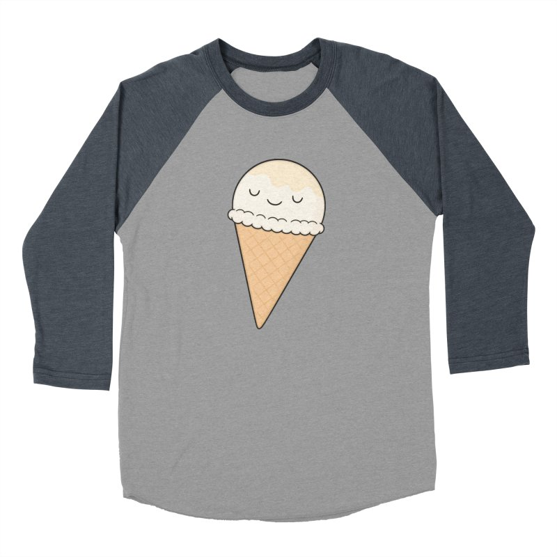 Ice Cream Women's Baseball Triblend T-Shirt by Kim Vervuurt
