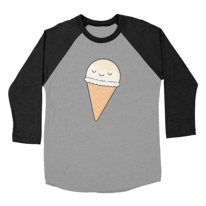Ice Cream Men's Baseball Triblend Longsleeve T-Shirt by Kim Vervuurt